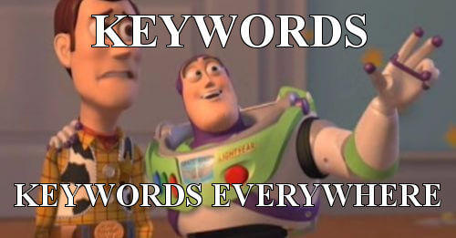 Anahtar kelimeler her yerde!
